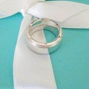 Tiffany & Co. Silver Men's Metropolis Ring 6.5